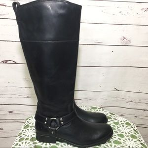 NWOB Frye Melissa Harnessed Knee Leather Boots